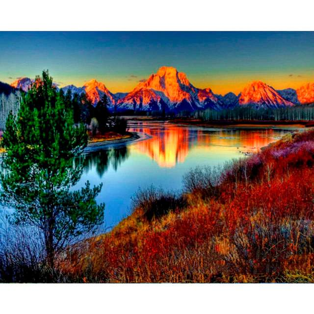 Fantastic Sunset DIY Oil Paint on Canvas Kit for Adults