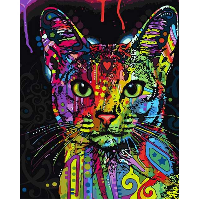 Fantastical Kitty DIY Oil Paint by Numbers Kit for Kids