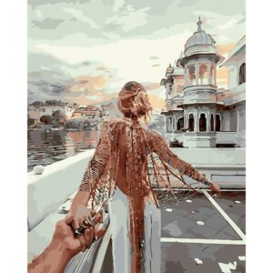 Follow Me To Udaipur India - DIY Oil Paint By Numbers