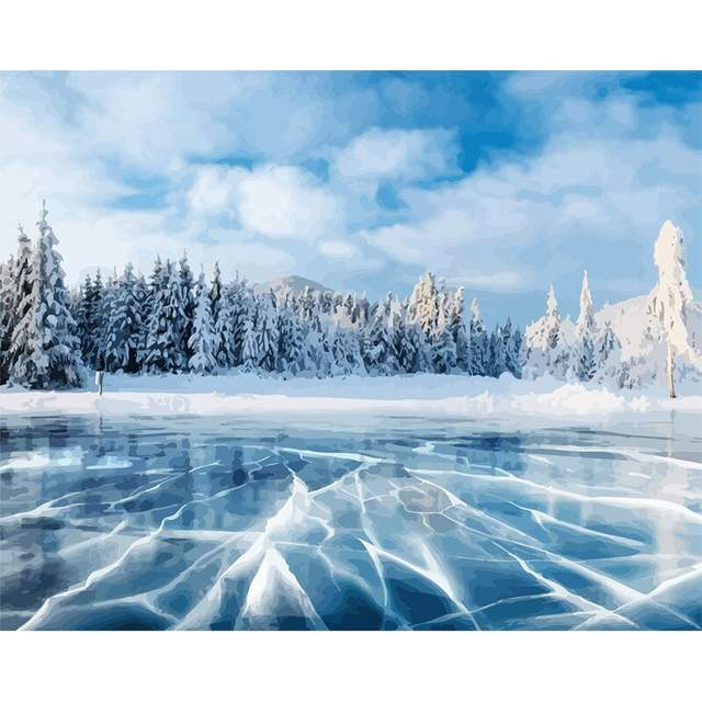 Frozen Lake - Paint by Numbers for Adults