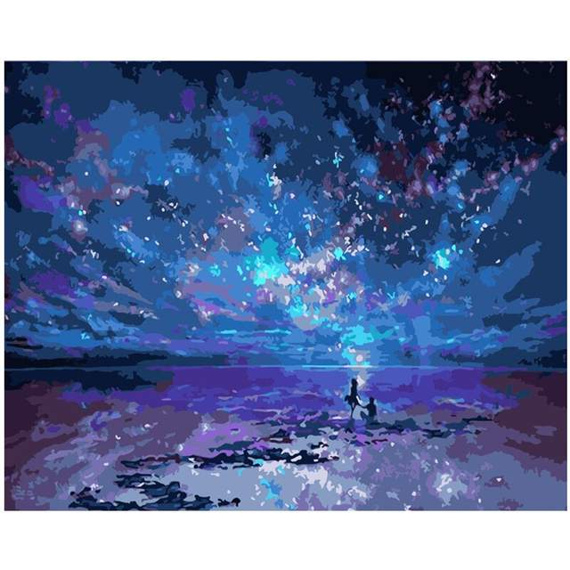 Galaxy Sea - DIY Painting by Numbers Kit for Adults