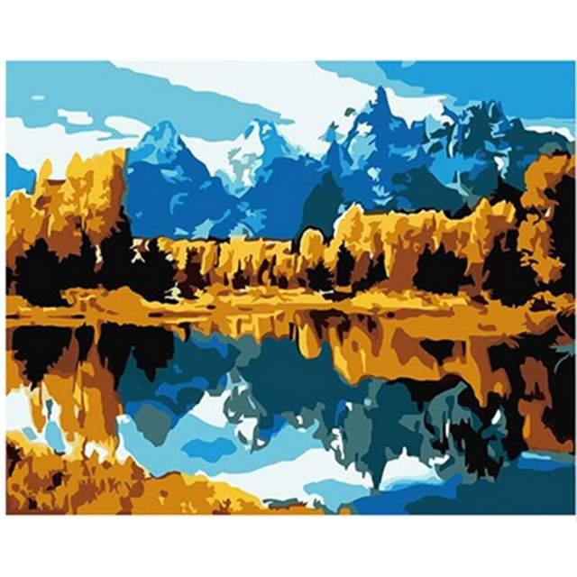 Grand Teton National Park U.S - DIY Painting by Numbers Kit