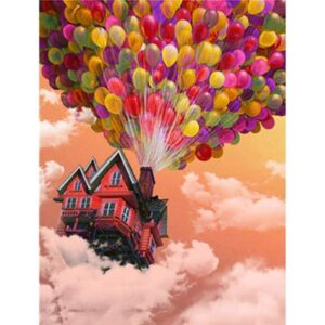 House Flying by Air Balloon - Paint by Numbers Movie
