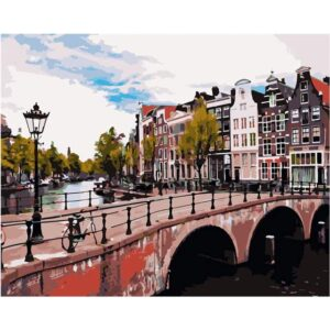 Imperial Canal in Amsterdam - DIY Drawing by Numbers Set