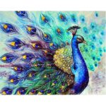 Indian Peacock DIY Painting By Numbers Kits for Adults