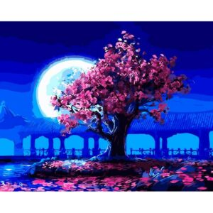 Japan at Night DIY Oil Paint By Number Kits for Adults