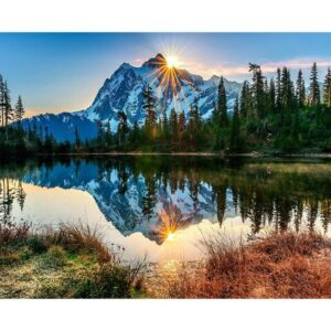 Lake in Mount Baker Snoqualmie National Forest - Paint by Numbers Kit