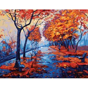 Late Autumn in Central Park - Paint by Numbers Fall Scene