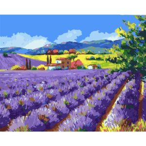 Lavender Valley - Acrylic Drawing by Numbers Kit