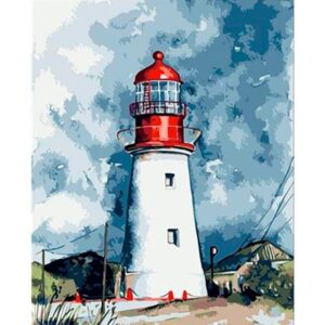 Lonely Lighthouse - DIY Paint By Numbers Kit