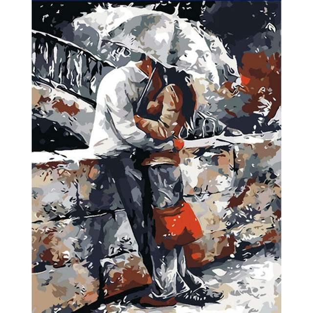 Loving Couple DIY Paint on Canvas Set