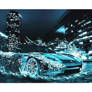 Need for Speed DIY Oil Canvas by Numbers Set Kids