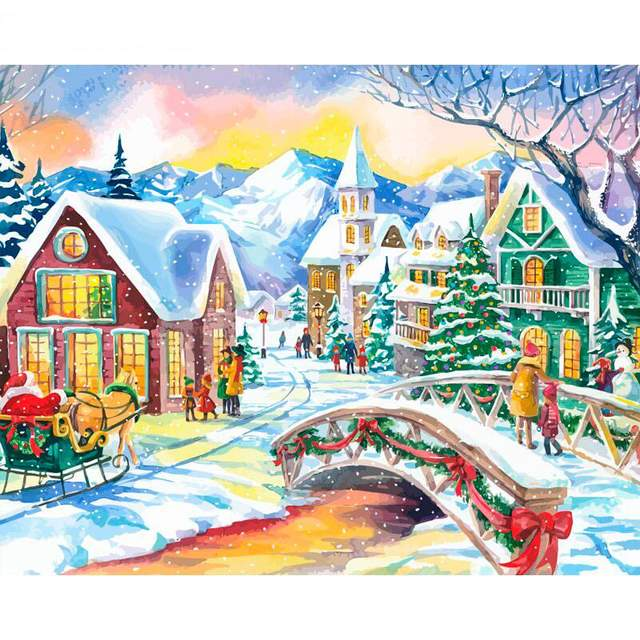 Night Before Christmas - DIY Paint by Numbers Kit