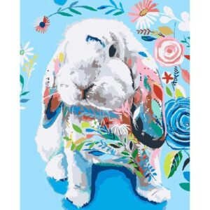 Painted Rabbit - DIY Picture by Numbers Kit