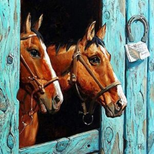 Pair of Arabian Horses - DIY Painting by Numbers Kits for Adults