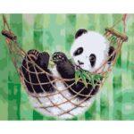 Panda in Hammock DIY Oil Coloring by Numbers Set for Children