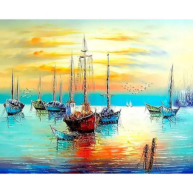 Silent Bay DIY Paint on Canvas Sets