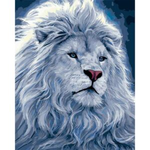 Snow Lion - DIY Painting by Numbers Kit