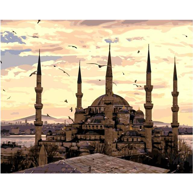 Sultan Ahmed Mosque - DIY Painting by Numbers Kit