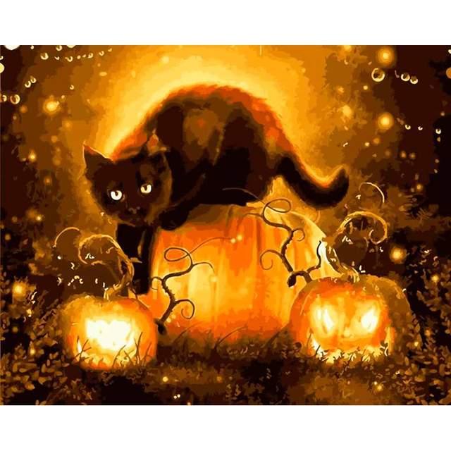 Symbol of Halloween - DIY Oil Paint By Numbers Kit