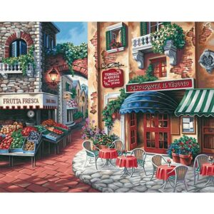 Taste of Italy DIY Oil Coloring by Numbers Kit for Adults
