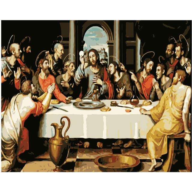 The Last Supper by Vicente Juan Masip 1562 - Paint by Numbers Kit