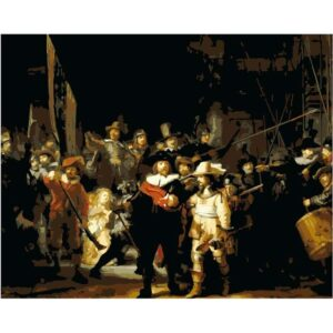The Night Watch by Rembrandt van Rijn 1642 - DIY Paint by Numbers Kit