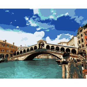 The Rialto Bridge in Venice - DIY Painting by Numbers for Adults