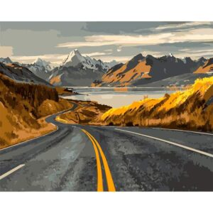 The Road to Lake in Alaska United States - DIY Draw by Numbers Kit