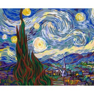 The Starry Night van Gogh DIY Oil Paint by Number Kit