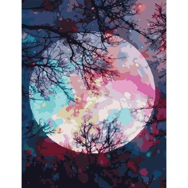 Twilight Moon - DIY Acrylic Painting on Canvas Kits
