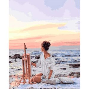 Woman at the Seaside - Paint by Numbers Woman