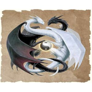 Yin Yang Dragons - Canvas by Numbers Set