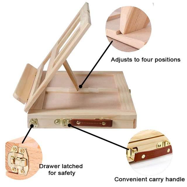 mini wooden desktop easel for kids & adults