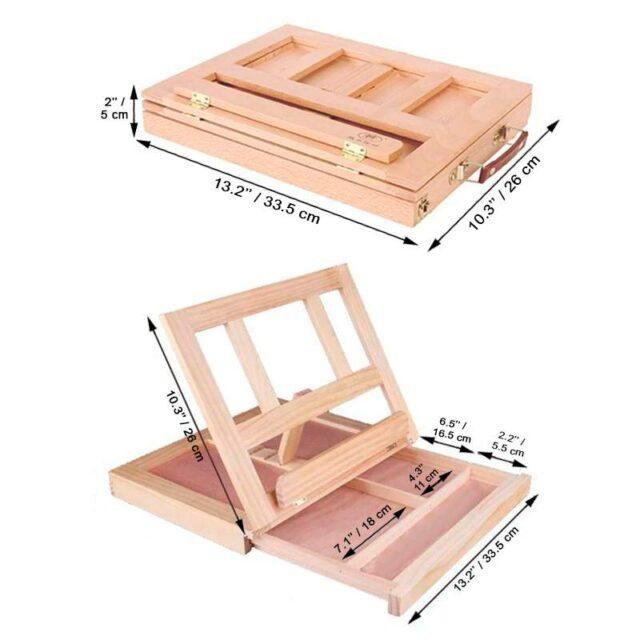 wood desktop easel with adjustable height