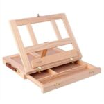 wooden easel desk with drawers
