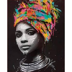 Abstract African American Woman - African American Art Paint by Numbers