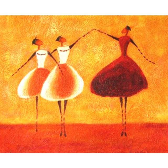 Abstract Dancing Women - Paint by Numbers Ballet Dancer