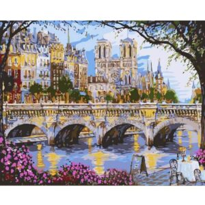 Afternoon by the River Seine - Paris Paint by Number