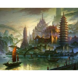 Ancient City in Asia - DIY Paint by Numbers Kit