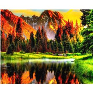 Autumn Season in Mountain - Paint by Numbers for Adults