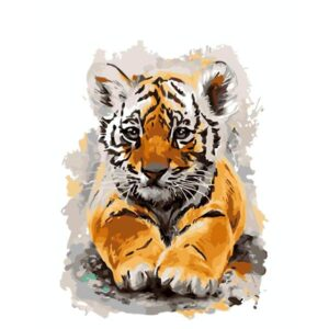 Baby Tiger Cub - Paint by Numbers for Sale