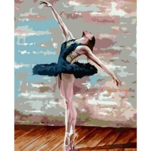 Ballerina in a Blue Tutu - Canvas by Numbers Kit