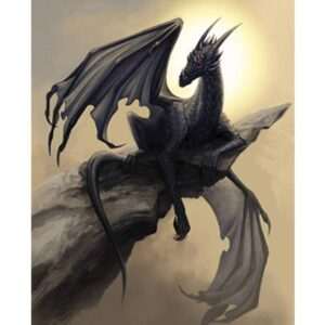 Black Dragon - Drawing with Numbers for Adults