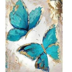 Blue Butterflies - Easy Paint by Numbers Kit