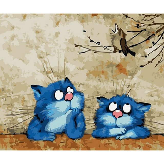 Bored Cats - Acrylic Paint by Numbers Kits