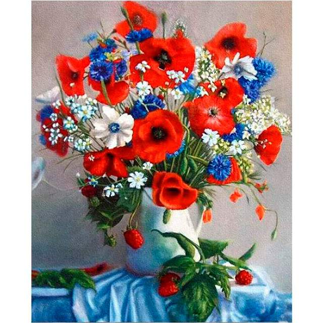 Bouquet of Wildflowers - Painting by Numbers for Adults