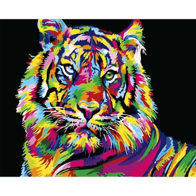 Bright Tiger - Acrylic Painting by Numbers
