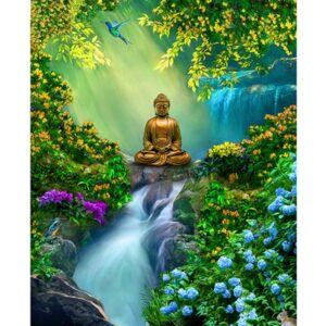 Buddha in Eden Garden - Paint by Numbers for Adults