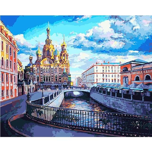 Church in Saint Petersburg - Paint by Numbers Kit